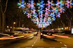 都市繁忙的圣诞节的时间 库存照片