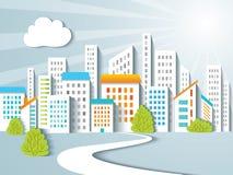 都市背景。 免版税库存照片