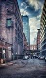 都市胡同在西雅图华盛顿 免版税库存图片