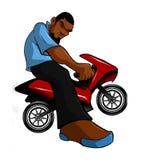 都市自行车Hip Hop微型摩托车的车手 免版税库存图片