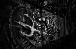 都市艺术bnw 免版税库存照片