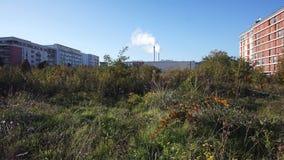 都市荒原在巴黎郊区 免版税库存照片