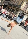 都市街道舞蹈家在巴塞罗那 免版税图库摄影