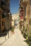都市街道, Vittoriosa,马耳他 免版税库存图片