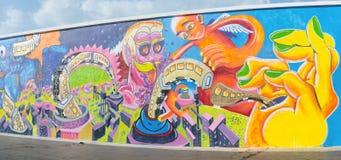 都市街道画艺术 免版税库存照片