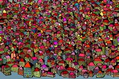 都市视域徒手画的传染媒介背景 库存图片