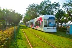 都市路轨运输的聪明的环境保护 免版税图库摄影