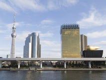 都市都市风景在东京,日本 免版税库存照片