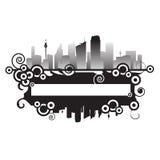 都市都市风景的框架 库存照片