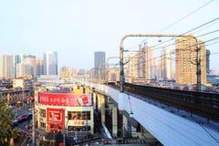 都市铁路运输运输在上海 免版税图库摄影