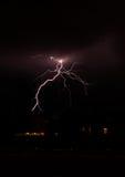 都市闪电 库存照片