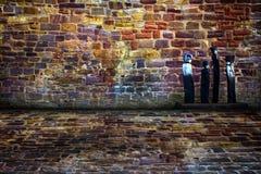 都市阶段砖室 库存照片