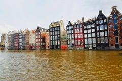 都市阿姆斯特丹的横向 免版税库存照片