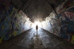 都市隧道人 库存照片