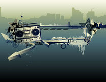 都市音乐框架 免版税图库摄影