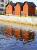 都市风景。奥卢,芬兰 免版税库存图片