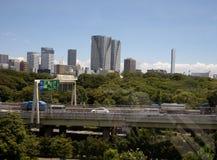 都市风景东京地平线 图库摄影