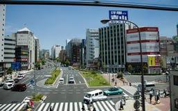 都市风景东京地平线 库存图片