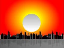都市风景例证场面 免版税库存照片