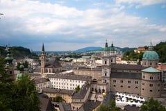 都市风景修道院萨尔茨堡 免版税库存照片