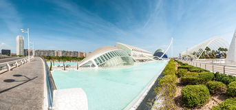 都市风景全景在巴伦西亚,西班牙,欧洲。 免版税库存照片