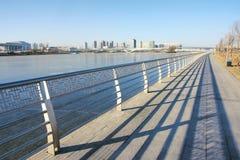 都市风景冬天 免版税库存图片