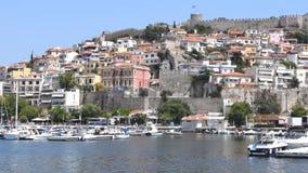 都市风景卡瓦拉,希腊 股票视频