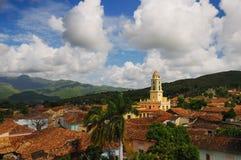 都市风景古巴特立尼达 库存照片
