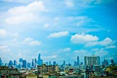 都市风景和天空曼谷泰国 库存图片