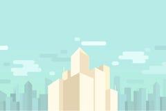 都市风景和摩天大楼背景 免版税库存图片