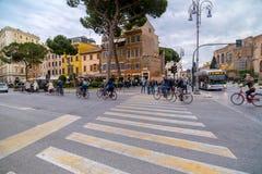 都市风景和普通建筑学从罗马,意大利首都 免版税图库摄影