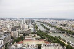 巴黎都市风景和河 图库摄影