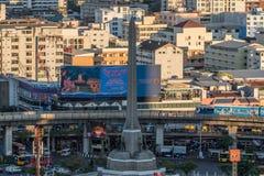 都市风景和胜利纪念碑 图库摄影