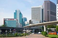 都市风景在一个晴朗的早晨,曼谷 库存图片