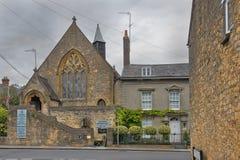 都市风景在中世纪镇Sherborne,多西特,英国 库存图片