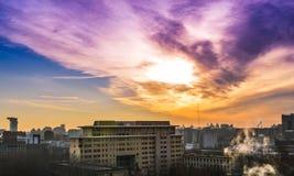 都市风景在北京 免版税库存照片