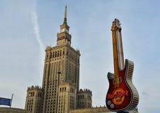 都市风景在华沙,波兰 免版税图库摄影