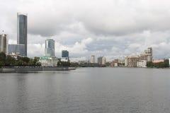 都市风景在叶卡捷琳堡,俄联盟 库存照片
