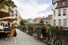 都市风景在小法国 法国史特拉斯堡 免版税库存图片