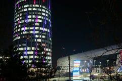 都市风景在晚上之前 图库摄影