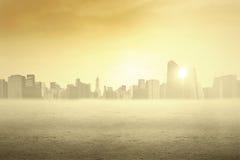 都市风景在清早 免版税库存图片