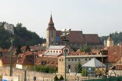都市风景在老镇布拉索夫(Kronstadt),在Transilvania 免版税库存照片