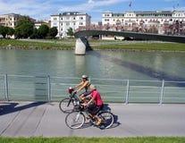 都市风景在萨尔茨堡,奥地利 库存照片