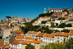 都市风景在里斯本,葡萄牙 免版税图库摄影
