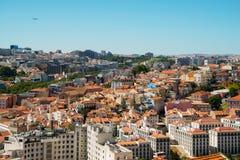 都市风景在里斯本,葡萄牙 库存照片