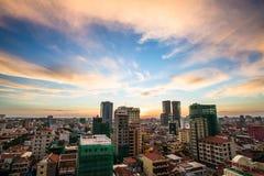 都市风景在金边市 免版税图库摄影