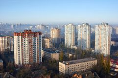 都市风景在黎明 免版税库存照片