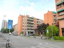都市风景在费拉拉 免版税库存图片