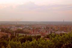 都市风景在黎明 库存照片