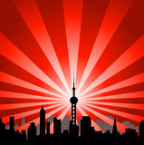 都市风景塔 免版税库存照片